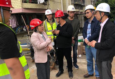 区工务局饶才金副局长带队到龙岗区四院原址改扩建工程实地调研
